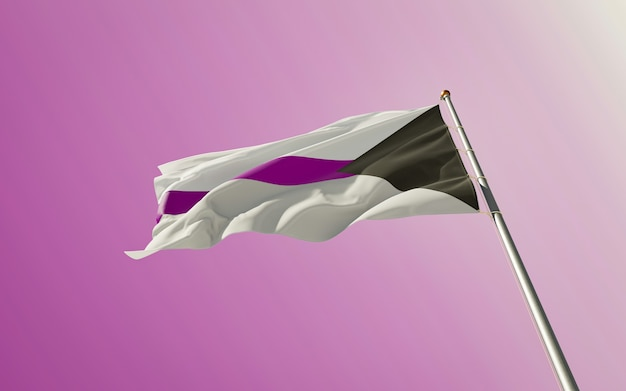 Demisexual pride flag. 3d-illustraties