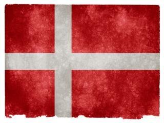 Denemarken grunge vlag wit