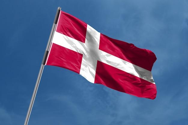 Denemarken vlag zwaaien