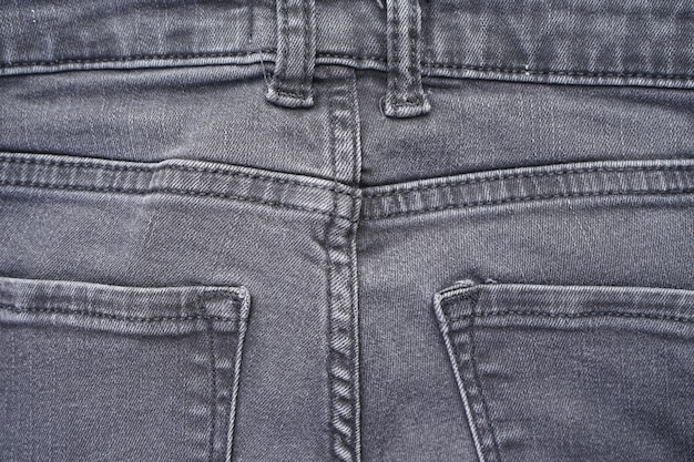 Denim patroon, grijze jeans. klassieke jeans textuur.