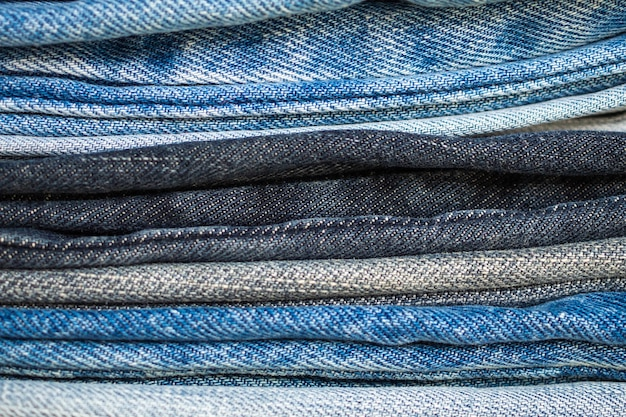 Denim spijkerbroek stapel textuur achtergrond close-up
