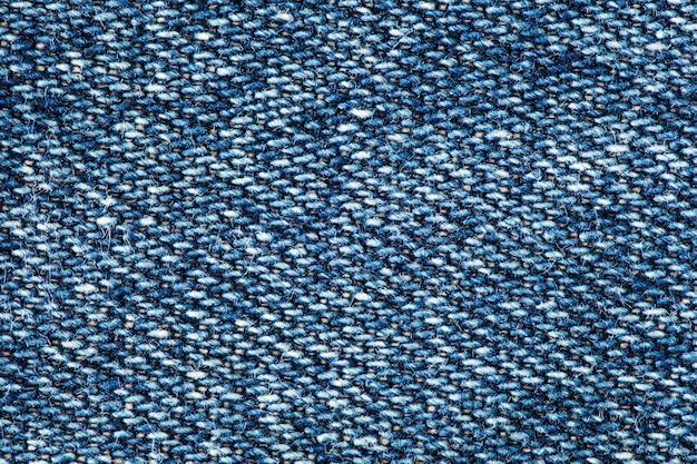 Denimstof, structuur van textuurdraden close-up macroweergave