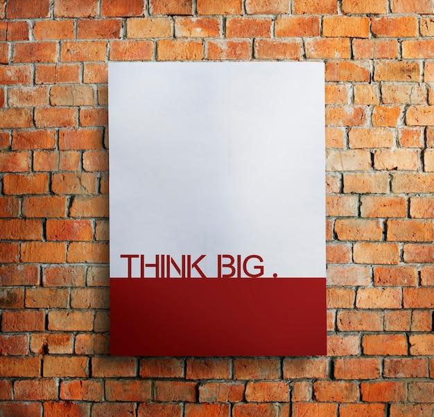Denk groot creatief verbeeldingsstrategie visionair concept