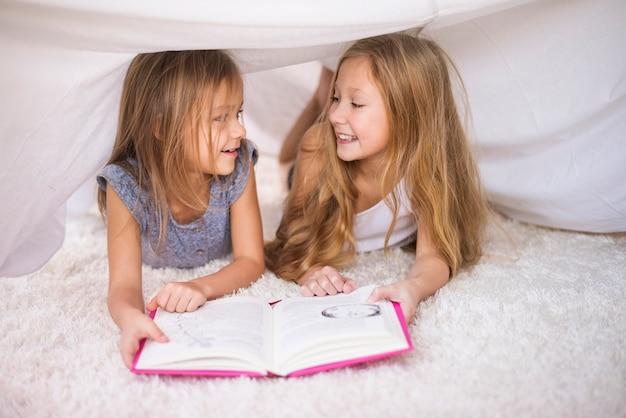 Denkbeeldig huis is het beste om een boek te lezen