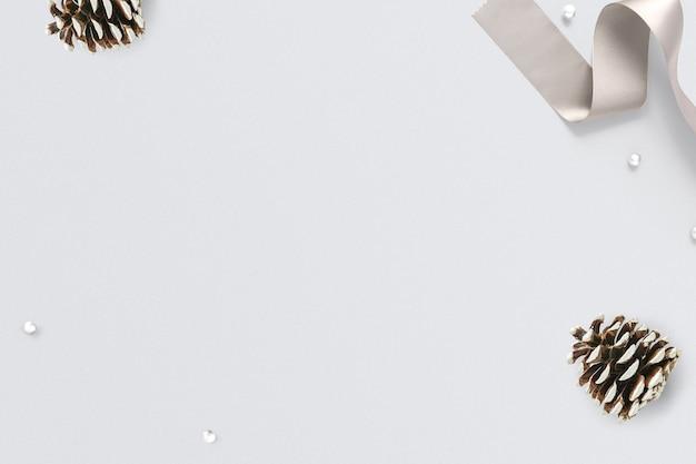 Dennenappel kerstmis sociale media banner met ontwerpruimte