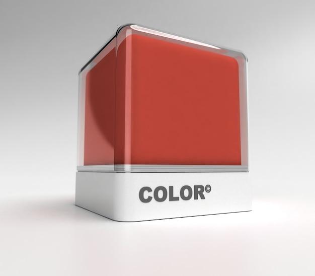 Design blok in een bordeaux rode kleur