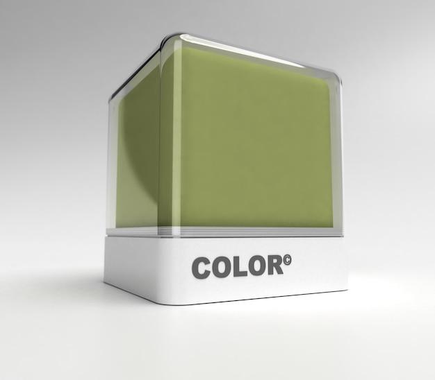 Design blok in een legergroene kleur