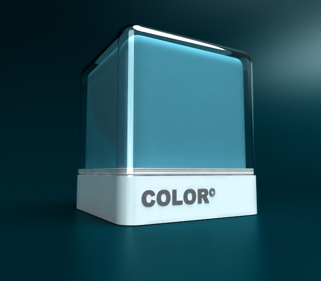 Designblok in lichtblauw