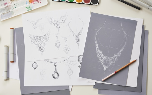 Designer design sieraden kettingen productideeën
