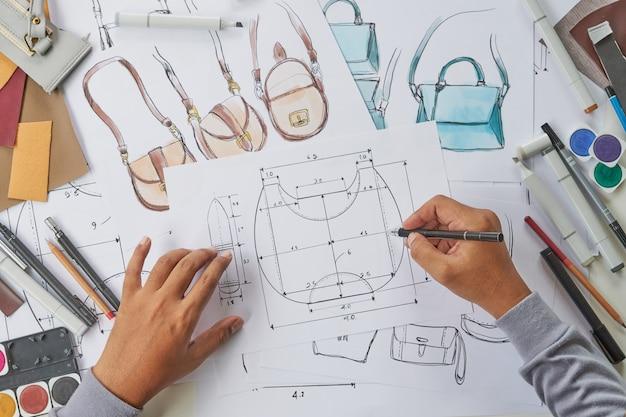 Designer design tas patroon op kantoor