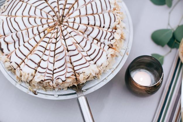 Dessert tijdens een huwelijksceremonie