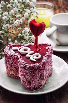 Dessert voor de vakantie valentijnsdag