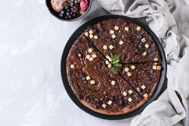 Dessertchocolade pizza