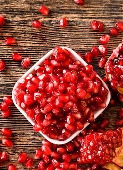 Desserts en vlees bereiden met granaatappelsap