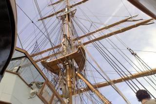 Detail op zeilboot zeilboot