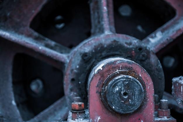 Detail schot van machines