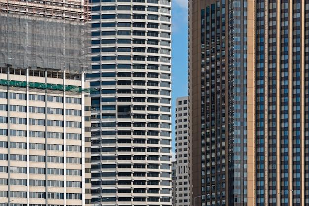 Detail van buitenkant van moderne corporatiegebouw en bouwbouw in sydney.