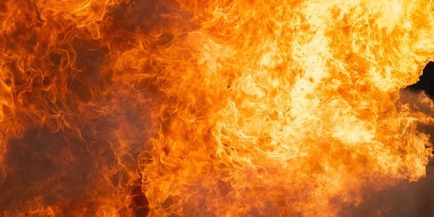 Detail van de achtergrond en het patroon van de brandvlam