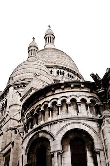 Detail van de basiliek van het heilig hart van parijs, algemeen bekend als de sacré-coeur basiliek, gewijd aan het heilig hart van jezus, in parijs, frankrijk