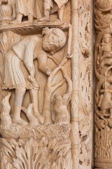 Detail van de kathedraal van st. lawrence in trogir, kroatië