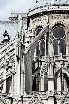 Detail van de notre-dame de paris kathedraal, parijs, frans