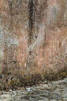 Detail van de oude stenen muur
