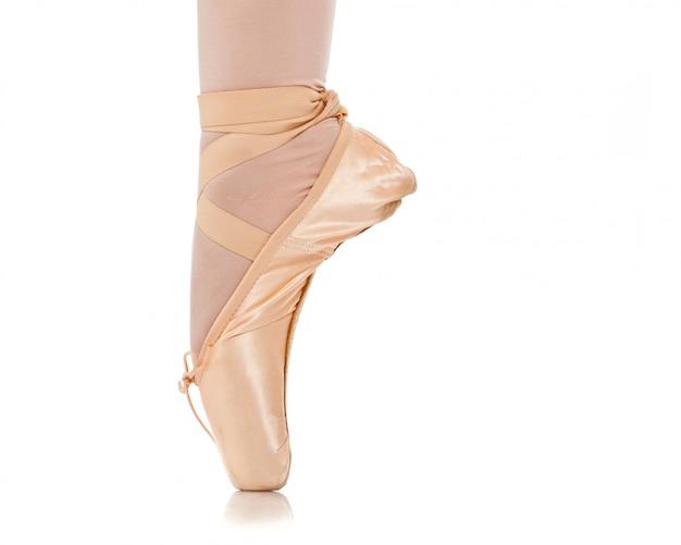 Detail van de voeten van de balletdanser
