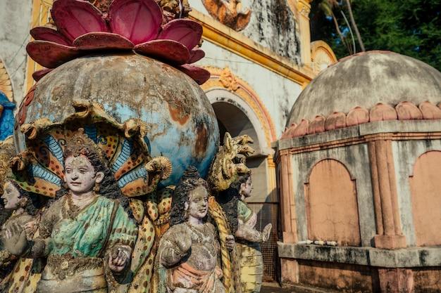 Detail van een hindoe-tempel