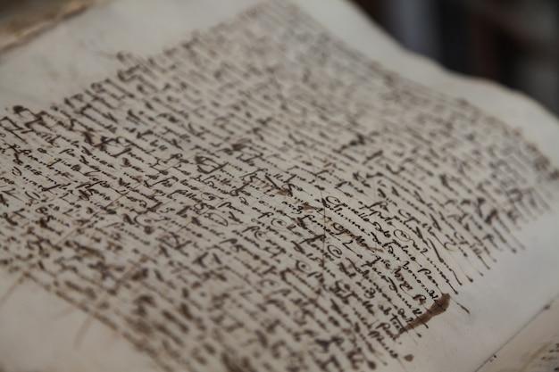 Detail van een oud spaans boek, 300 jaar oud
