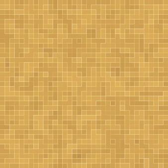 Detail van geel goud mosiac textuur abstracte keramische mozaïek versierd gebouw. abstracte naadloze patroon. abstracte gekleurde keramische stenen.