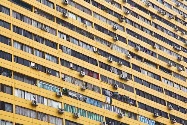 Detail van het grote gebouw in chinatown van singapore