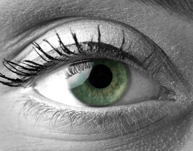 Detail van het oog van de vrouw