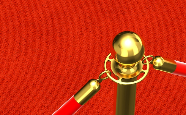 Detail van rode loper