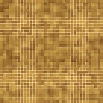 Detail van yellow gold mosiac texture abstract keramisch mozaïek versierd gebouw.