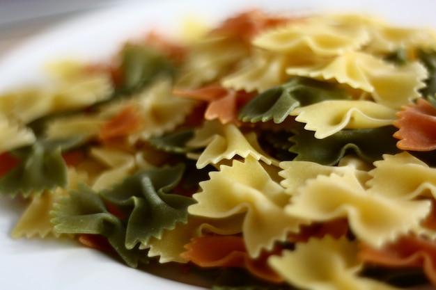Detailfoto van een pastagerecht