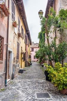 Details in de oude stad van ostia, rome, italië.