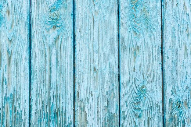Details van blauwe textuur van houten planken