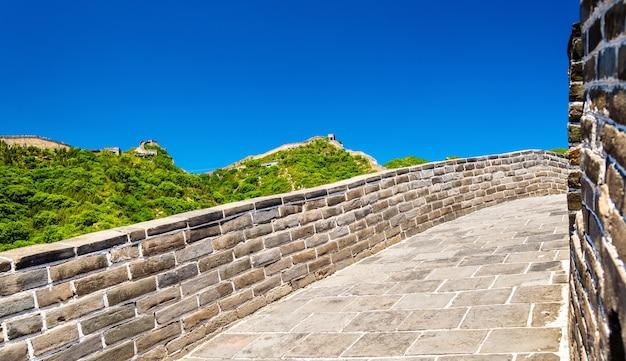 Details van de chinese muur in badaling