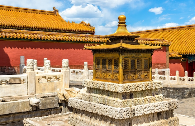 Details van de verboden stad - peking, china