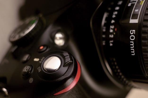 Details van moderne digitale slr-fotocamera