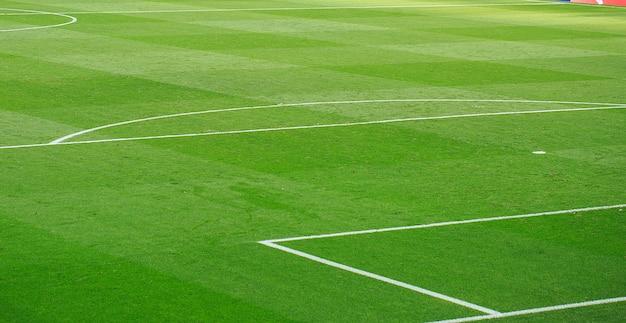 Details van voetbalstadionlijnen