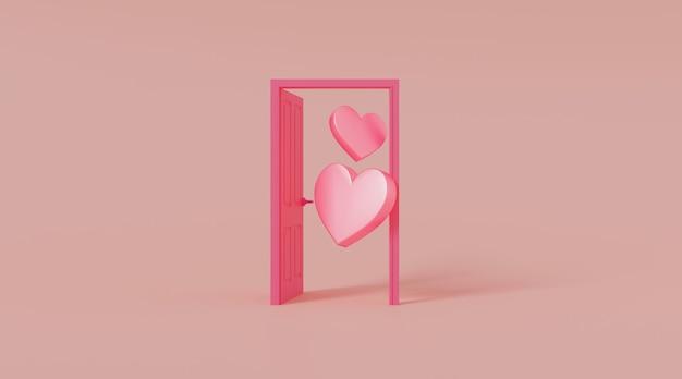 Deur open met hartvorm.