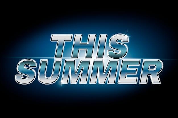Deze zomer typografie in lens flare font