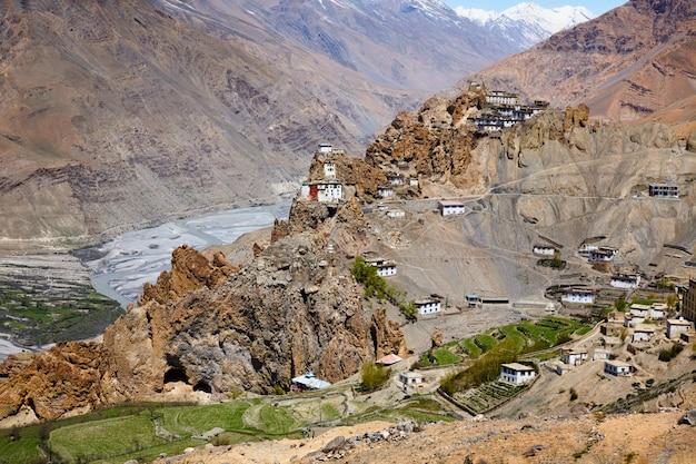 Dhankar gompa-klooster in de himalaya