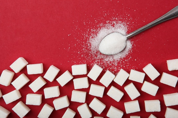 Diabetes mellitus concept minimalisme bovenaanzicht plaats voor tekst