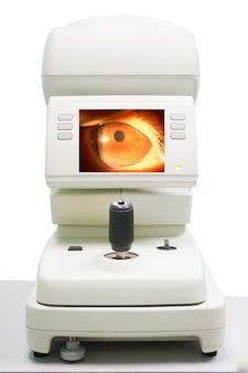 Diagnostische oogheelkundige apparatuur. moderne medische apparatuur in het oogziekenhuis