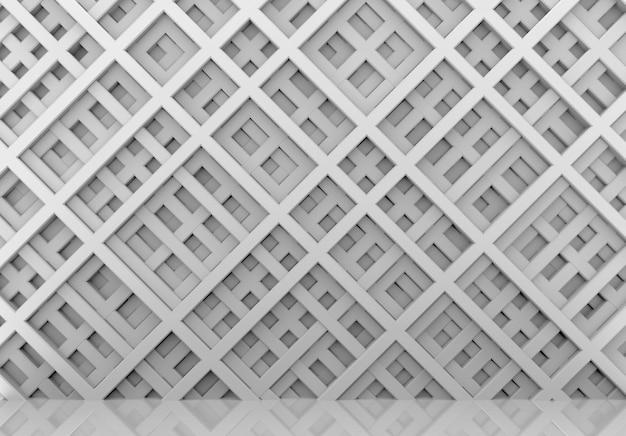 Diagonale grijze staven op de moderne geometrische achtergrond van de patroonmuur.