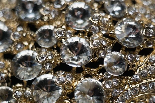 Diamanten en gouden macro