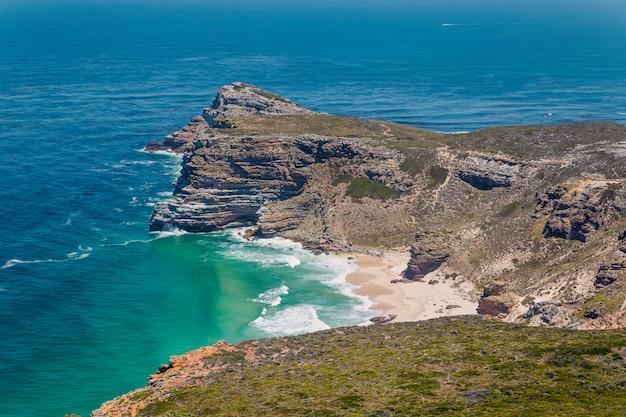 Diaz-strandmening dichtbij kaap de goede hoop in zuid-afrika