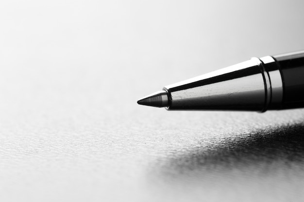 Dicht omhoog geschoten pen